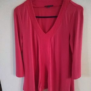 Womens Adrianna Papell red knit tunic top